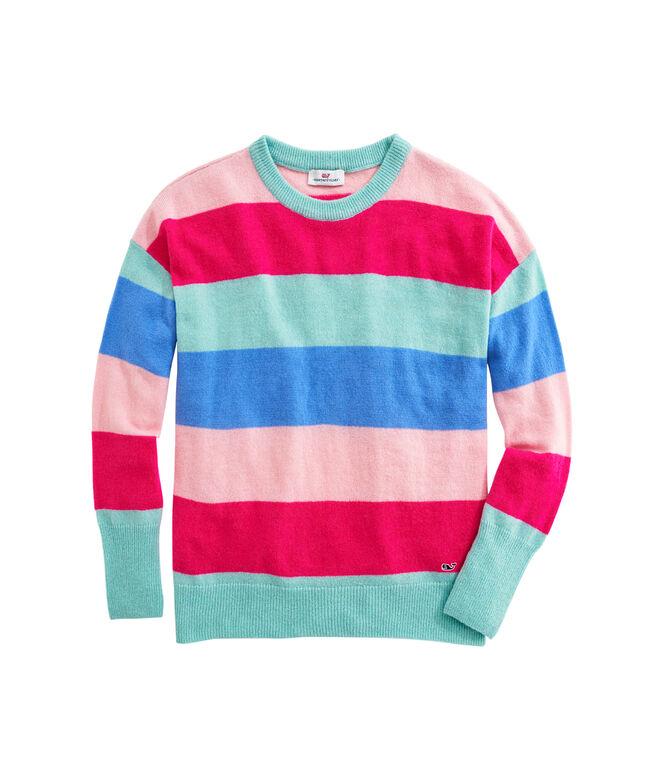 OUTLET Women's Sunset Stripe Lofty Sweater