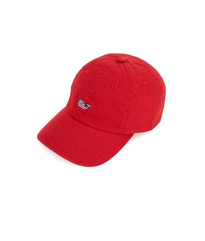 Girls Flag Whale Baseball Hat