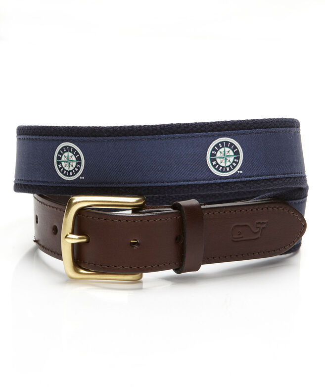 Seattle Mariners Canvas Club Belt