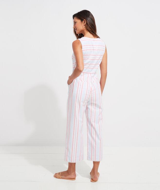 Abacos Stripe Tassel Jumpsuit