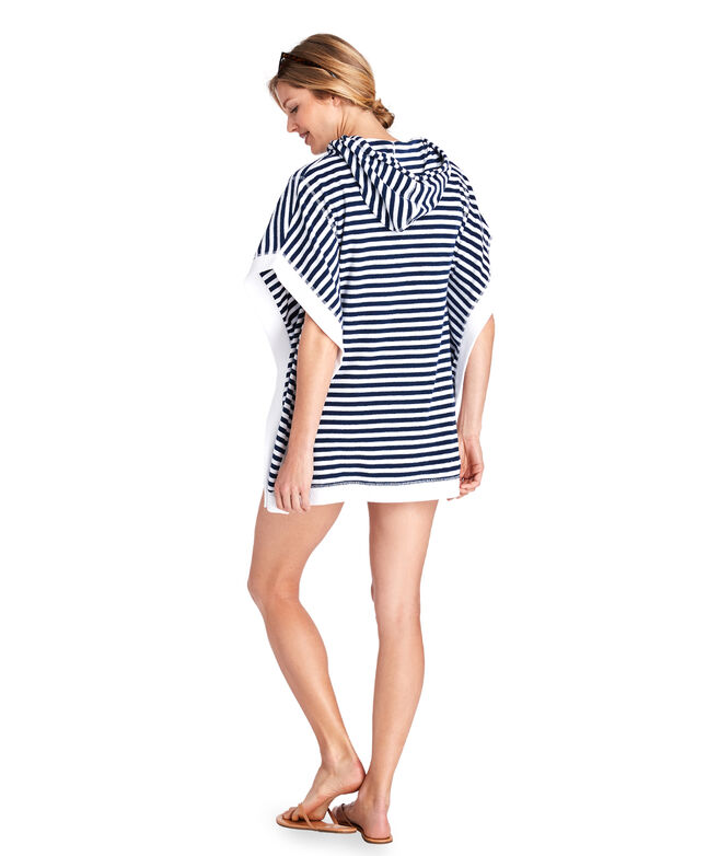 Striped Terry Poncho