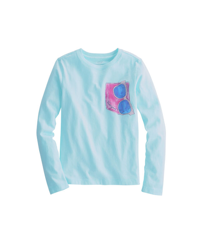 Girls Long-Sleeve Sunglasses Tee