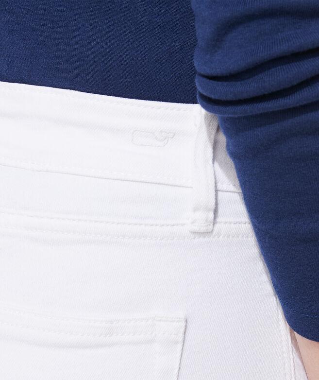 Raw Hem Cropped White Jeans