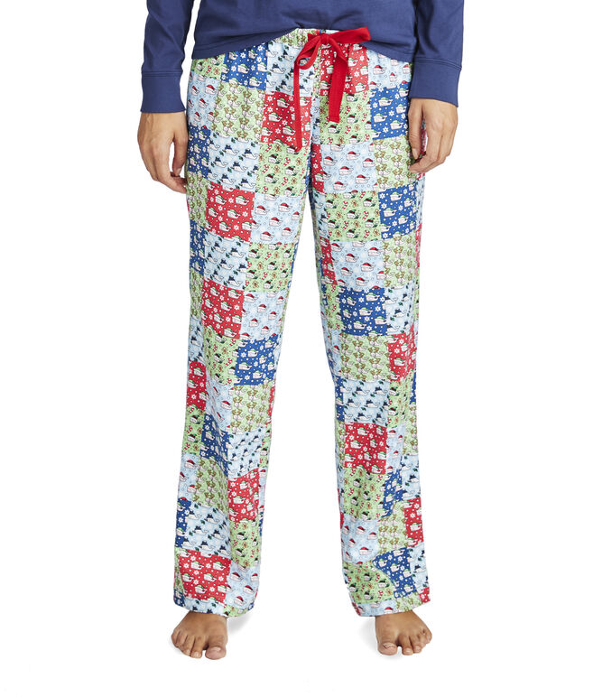 Patchwork Flannel Lounge Pants