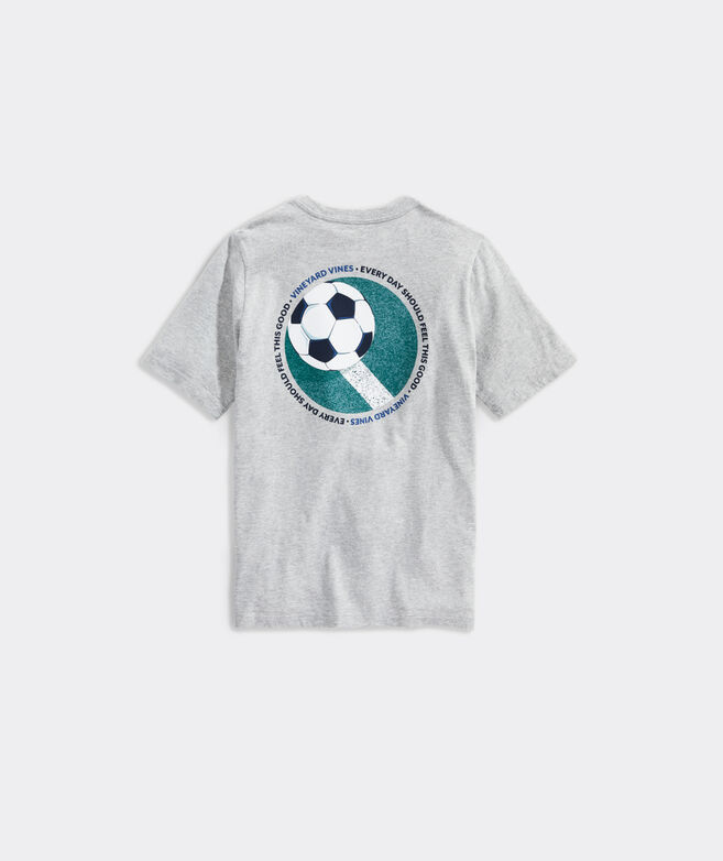 Boys' Soccer Ball Short-Sleeve Pocket Tee