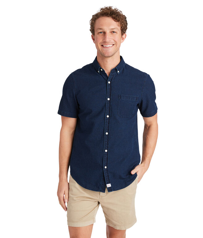 Short-Sleeve Flatbush Dobby Slim Murray Shirt
