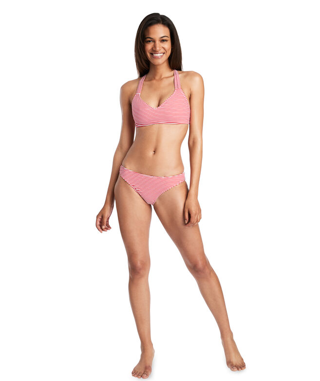 Painted Sailboats Reversible Bikini Top
