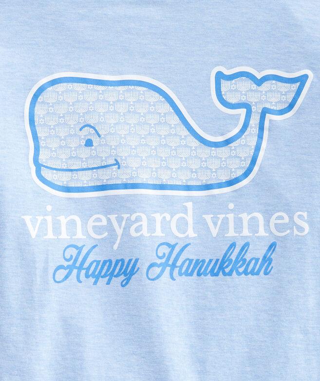 Boys' Hanukkah Whale Fill Long-Sleeve Pocket Tee