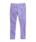 Girls Allover Whale Print Knit Leggings