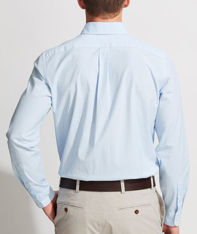 Slim Fit End-on-End Solid Murray Button-Down Shirt