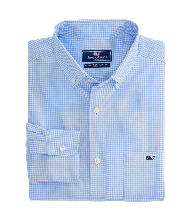 Sterling Place Gingham Classic Tucker Shirt