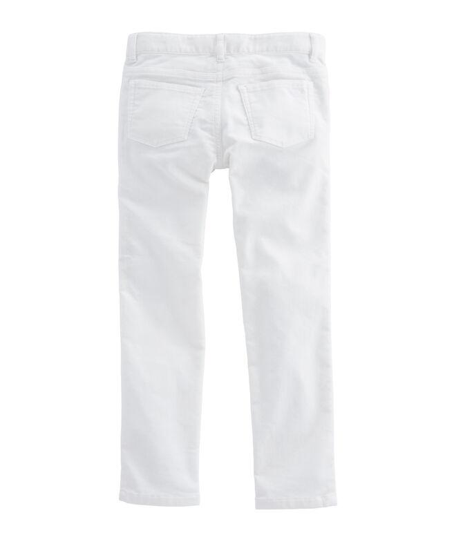 Girls Velveteen 5 Pocket Pants
