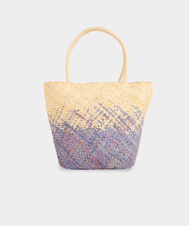 Ombre Flecked Straw Tote