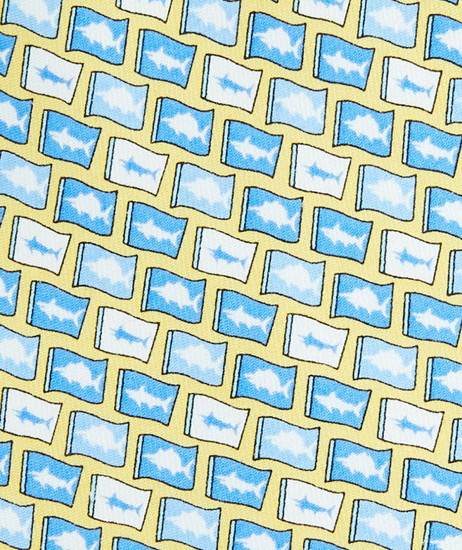 Fish Flag Printed Tie