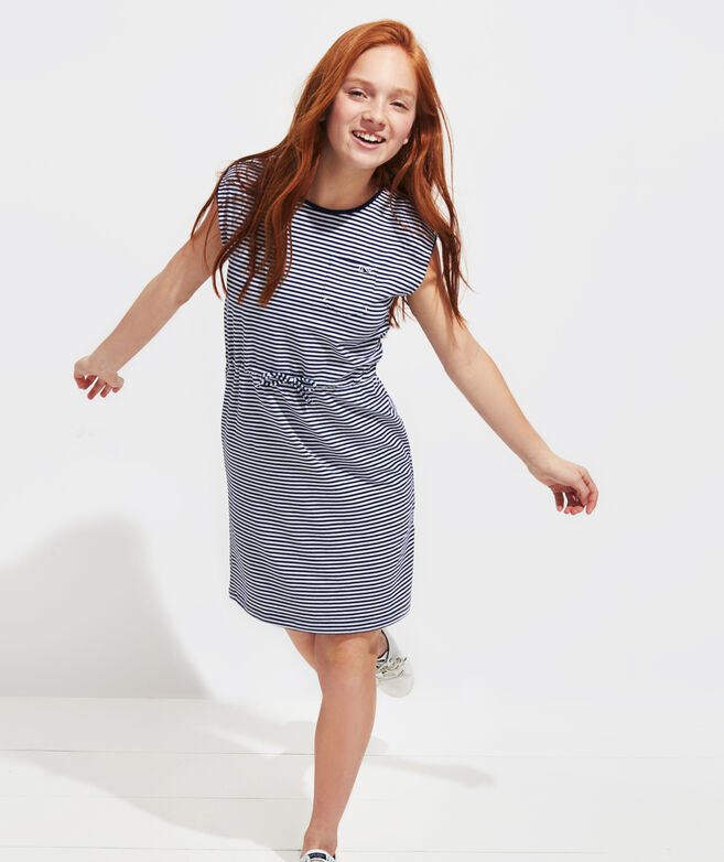 Girls' Edgartown Striped T-Shirt Dress