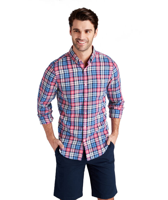 Marine Plaid Slim Murray Shirt