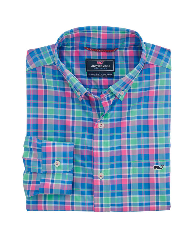 Big & Tall Classic Fit Sun Star On-The-Go Performance Tucker Button-Down Shirt