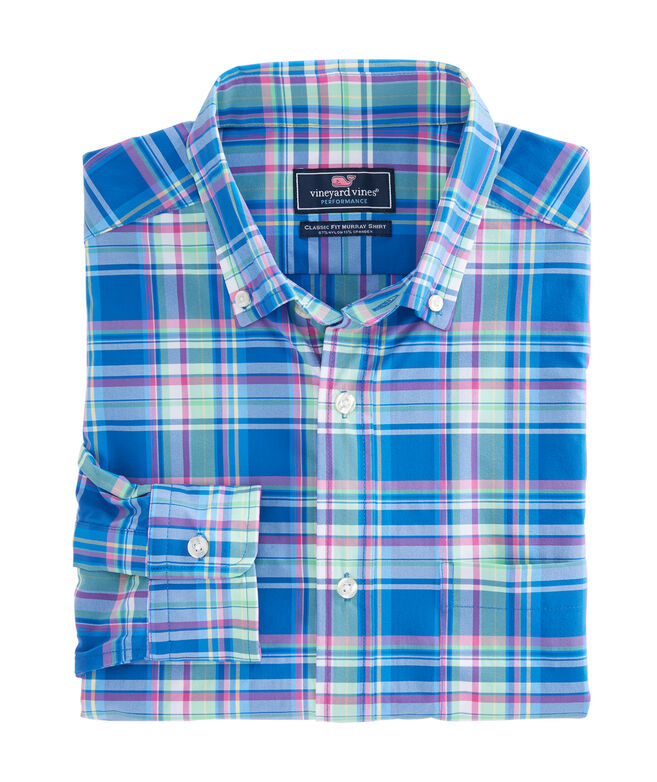 North Swell Plaid Performance Classic Murray Shirt