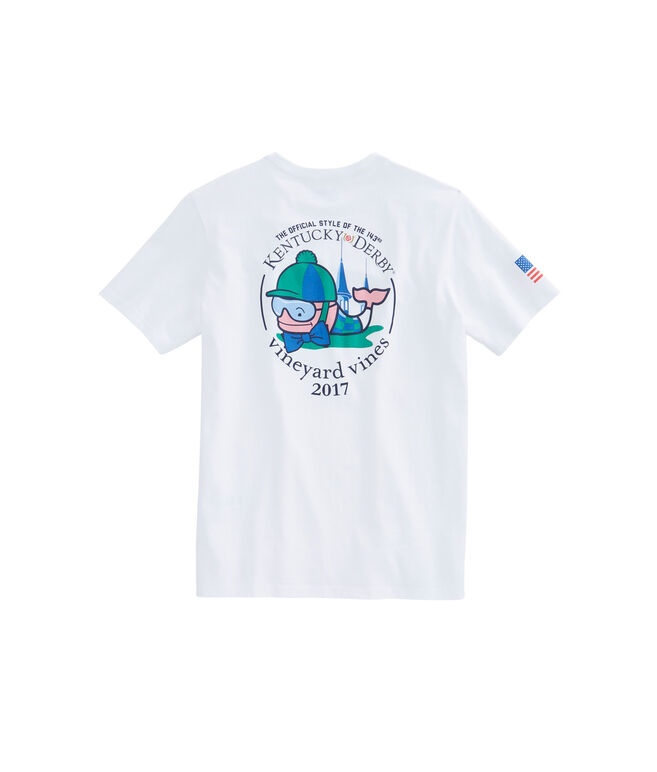 Kentucky Derby Jockey Whale Pocket T-Shirt