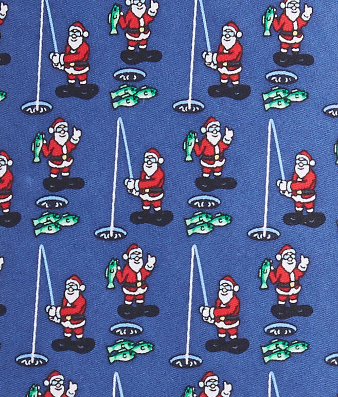 Santa Ice Fishing Tie