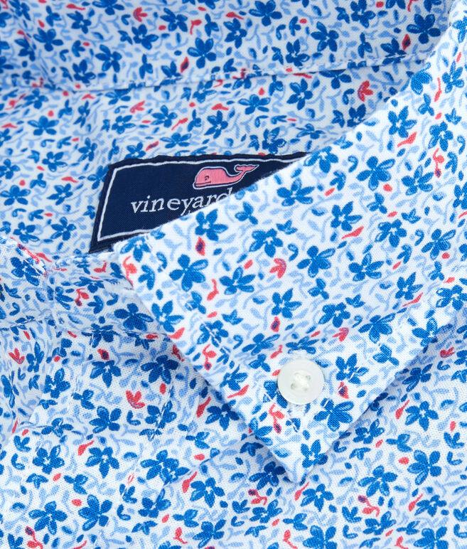 Short-Sleeve Mini Floral Classic Murray Shirt
