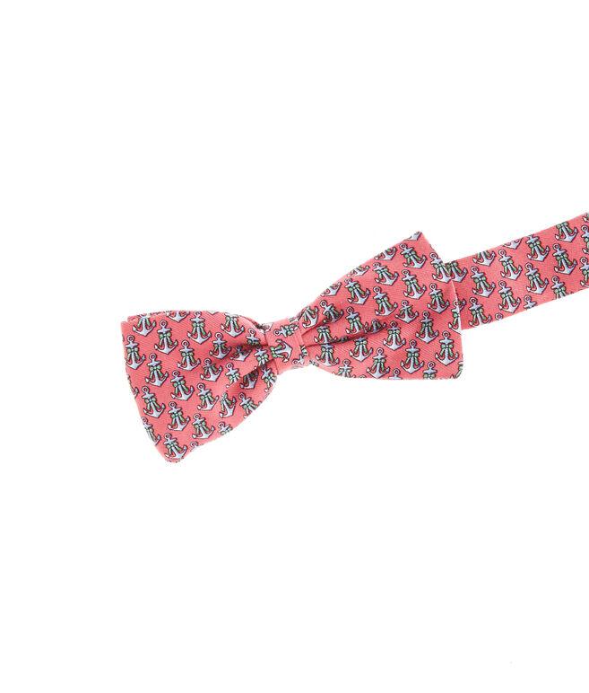 Boys Anchor Ribbon Bow Tie