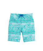 Boys Fish Gate Print Board Shorts