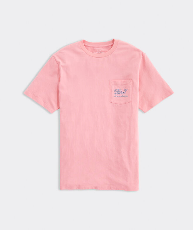 Coral Whale Fill Short-Sleeve Pocket Tee