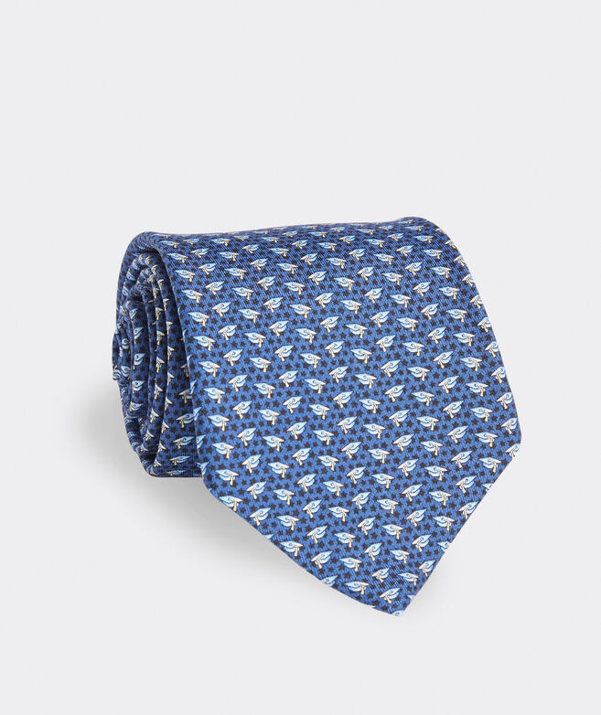 Grad Caps Extra Long Printed Tie