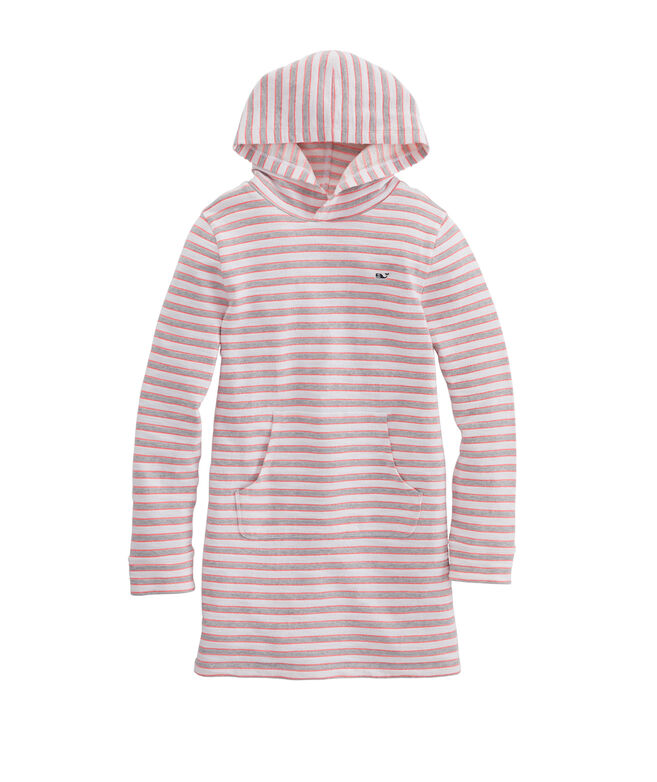 Girls' Greenwich Stripe Hooded Cover-Up