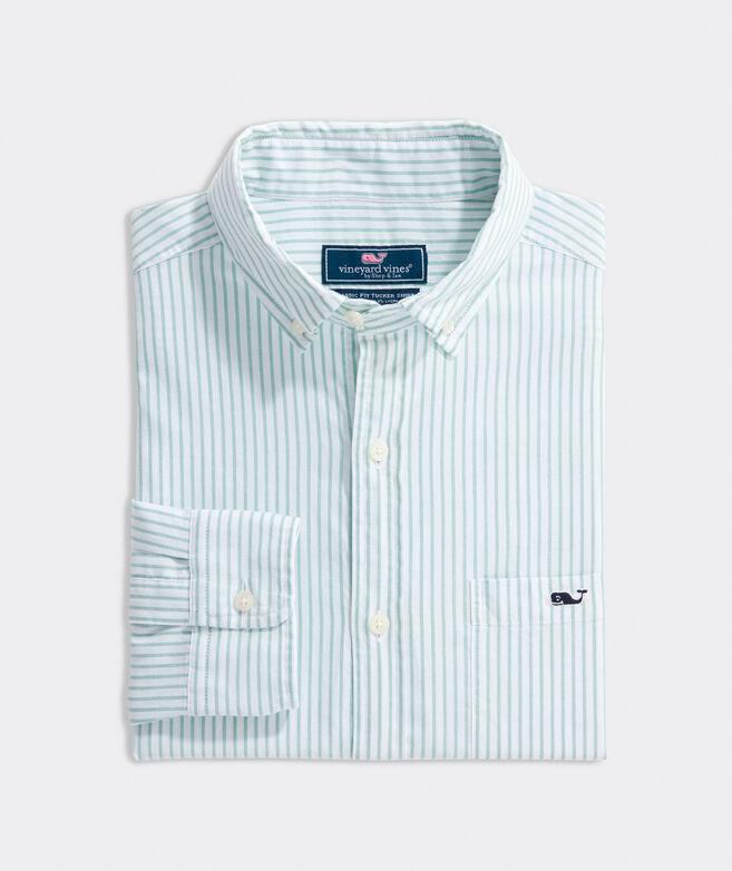 Classic Fit Oxford Stripe Shirt in Stretch Cotton