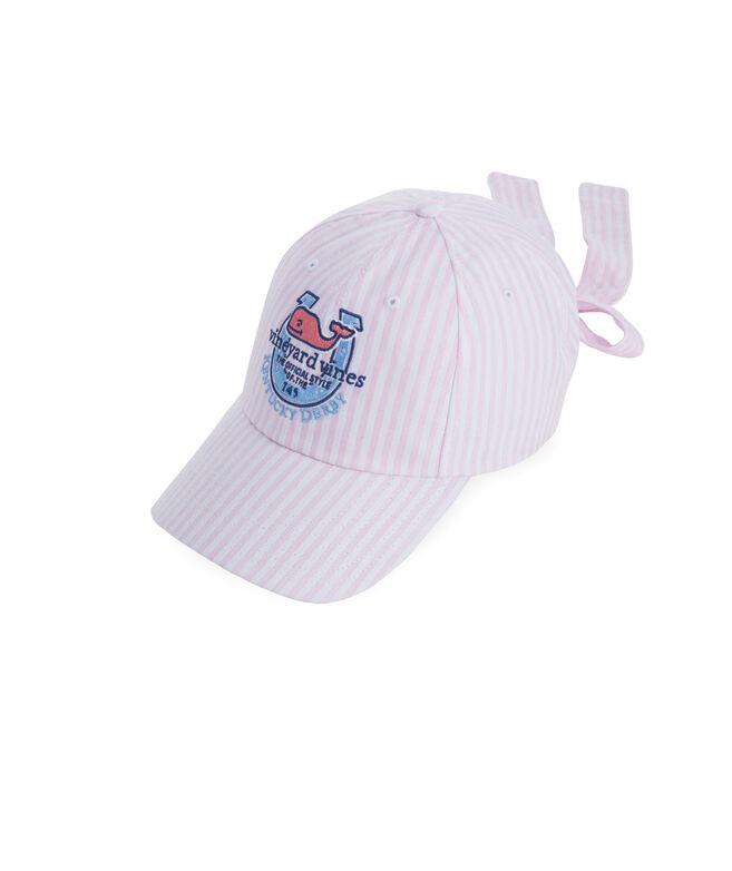 Kentucky Derby Seersucker Bow Back Hat