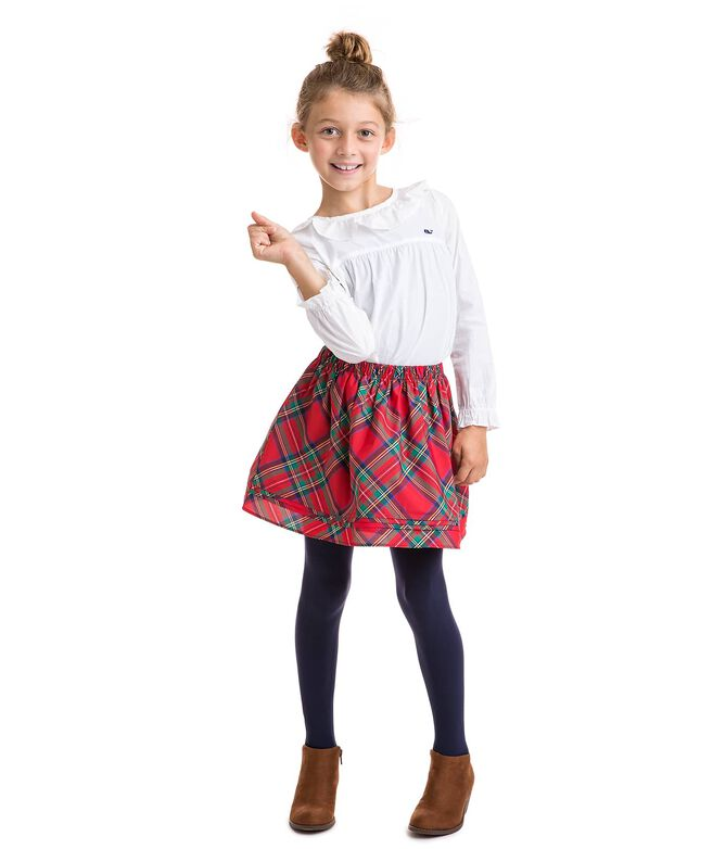 Girls Jolly Plaid Party Skirt