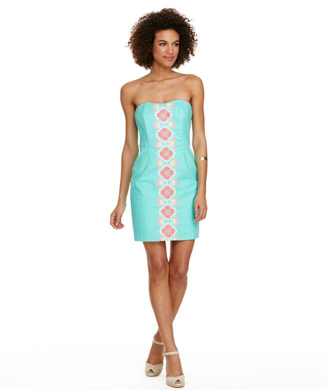 b40594da1bd3 Shop Caribbean Floral Embroidered Strapless Dress at vineyard vines
