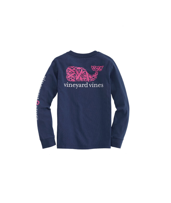 Boys 2019 Breast Cancer Awareness Ribbons Long-Sleeve Pocket T-Shirt