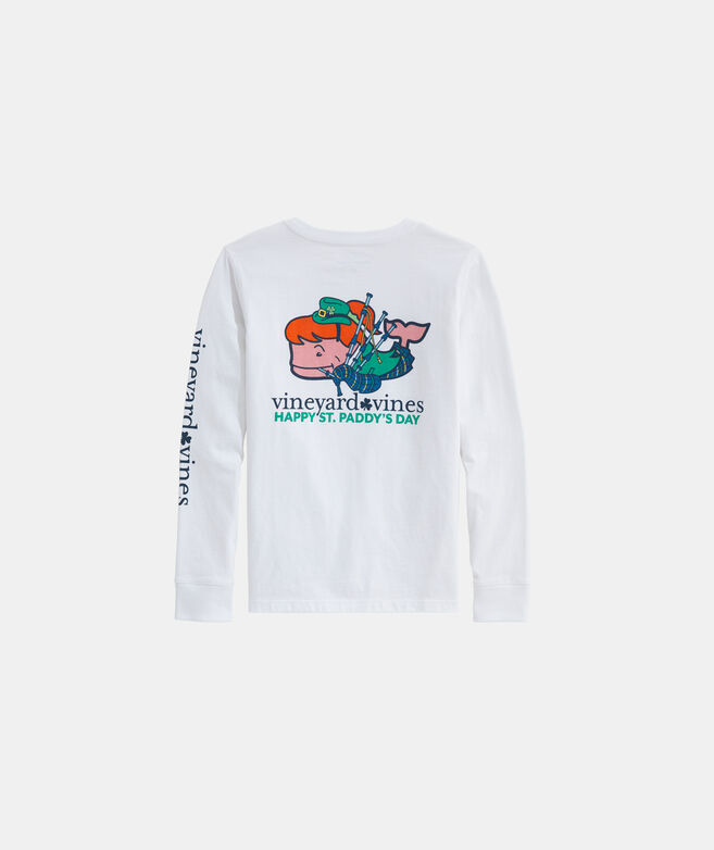 Girls' St. Patrick's Day Character Whale Long-Sleeve Tee