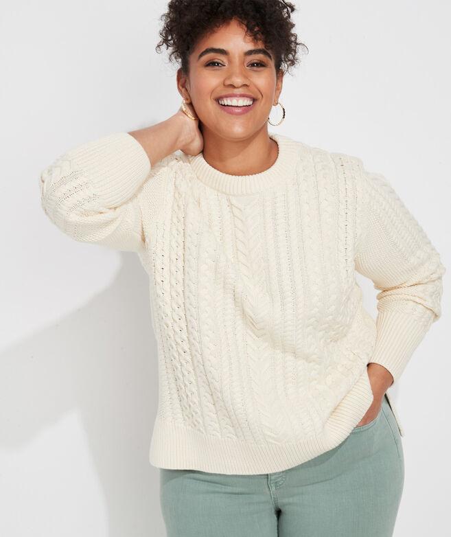 Textured Fisherman Sweater