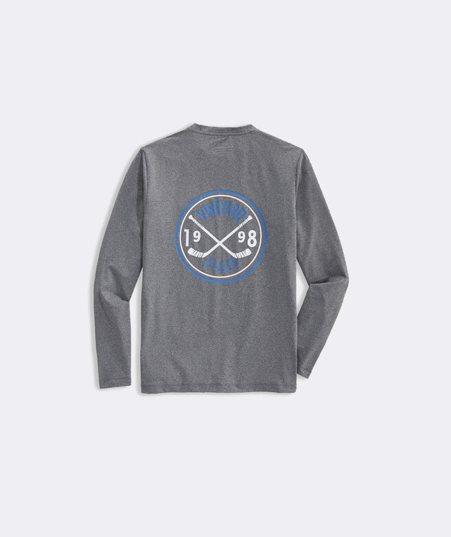 Boys' Hockey Crest Long-Sleeve Performance Tee
