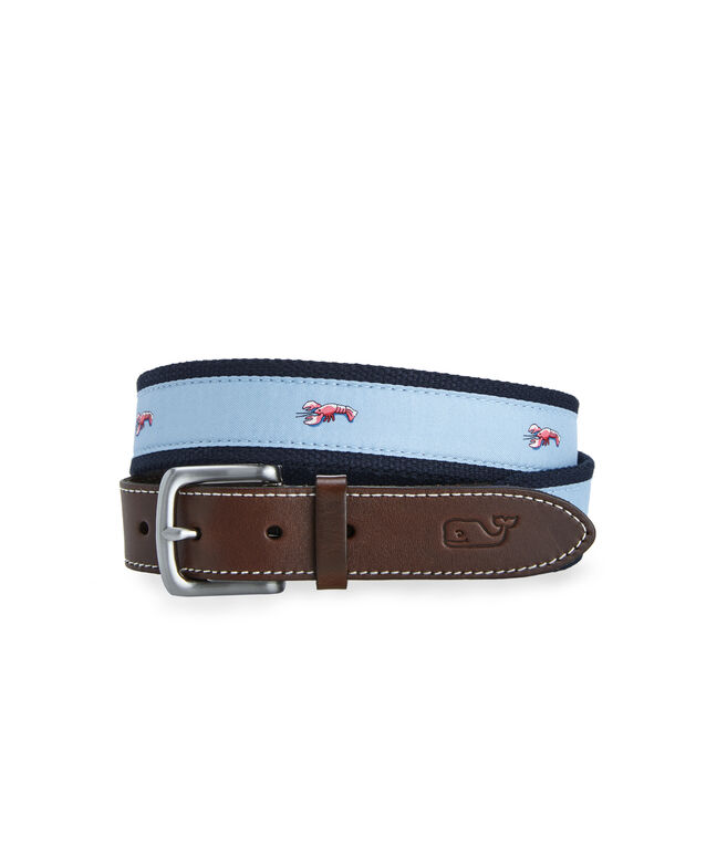 Lobster Icon Canvas Club Belt