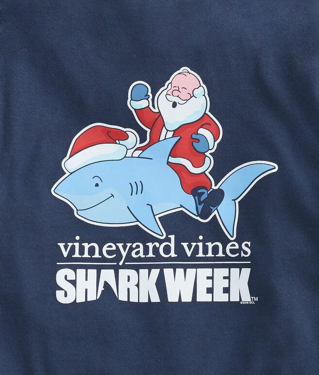 Kids Shark Week Santa Riding Shark T-Shirt