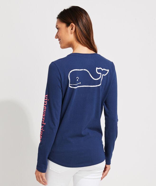 Long-Sleeve Slub Vintage Whale Tee