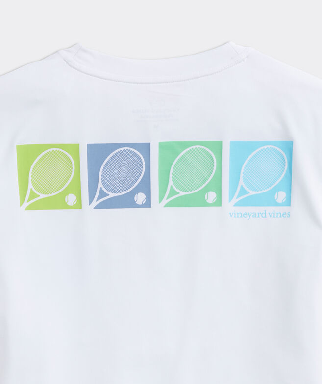 Boys' Tennis Rackets Performance Short-Sleeve Tee