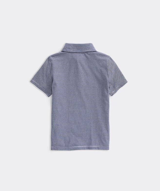 Boys' Feeder Stripe Short-Sleeve Island Polo