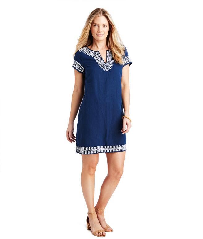 Embellished Beaded Tunic Dress