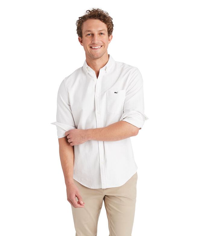 Slim Solid Oxford Tucker Shirt