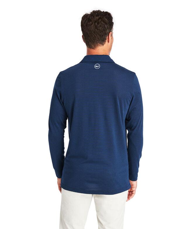 Carmel Wide Stripe Long-Sleeve Polo