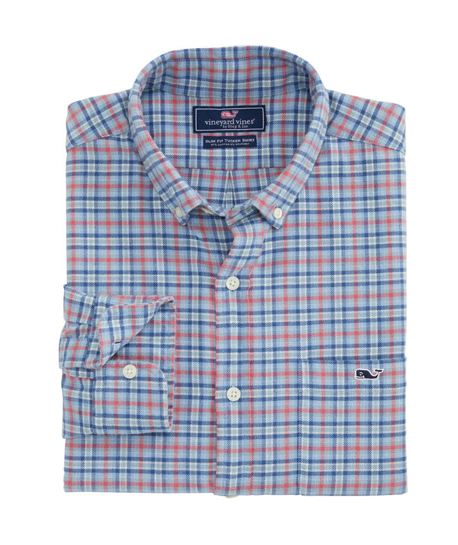 San Marino Slim Fit Flannel Tucker Shirt