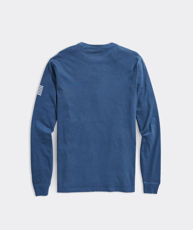 Garment-Dyed Long-Sleeve Transom Logo Tee