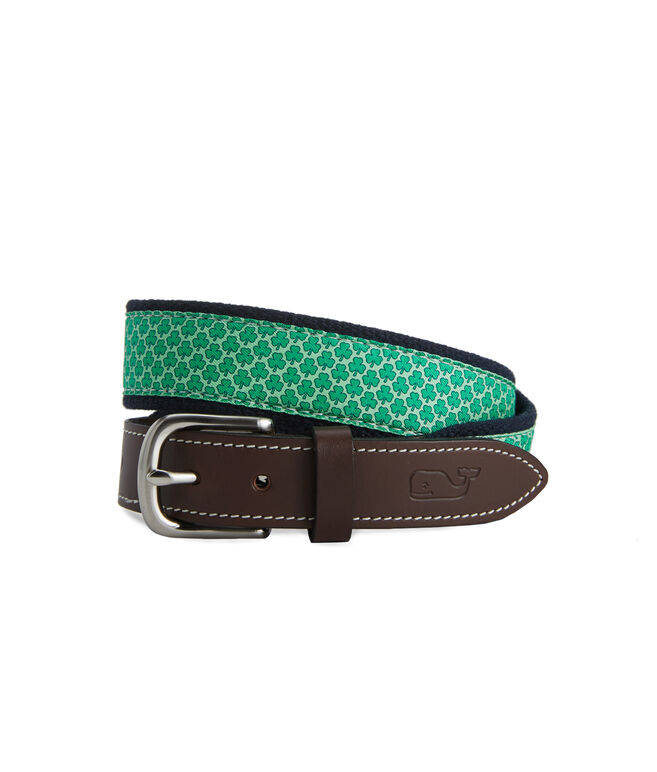 Boys Shamrock Canvas Club Belt