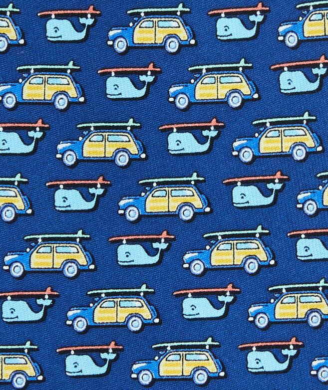 Woody & Surfboard Printed Tie